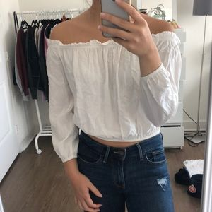 Brandy Melville Cream Off the Shoulder Top